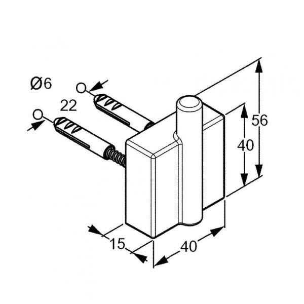 Rysunek techniczny wieszaka na ręcznik Kludi A-xes 4898405-image_Kludi_4898405_3