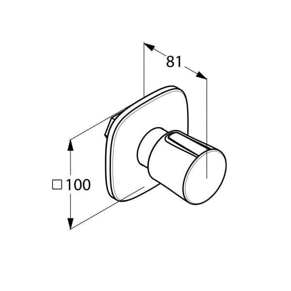 Rysunek techniczny zaworu podtynkowego Kludi Ambienta 538150575-image_Kludi_538150575_3