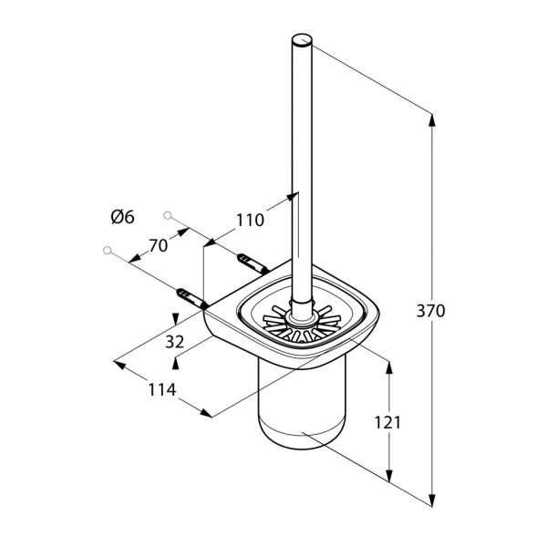 Wymiary techniczne szczotki wc Kludi Ambienta 5397405-image_Kludi_5397405_3
