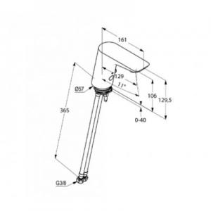 Dane techniczne baterii Kludi Balance 5220091-image_Kludi_5220091_2
