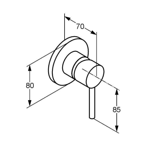 Wymiary podtynkowej baterii prysznicowej Kludi Bozz 389250576-image_Kludi_389250576_3