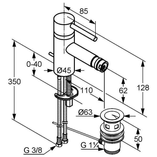 Wymiary baterii bidetowej Kludi Bozz 385330576-image_Kludi_385330576_4