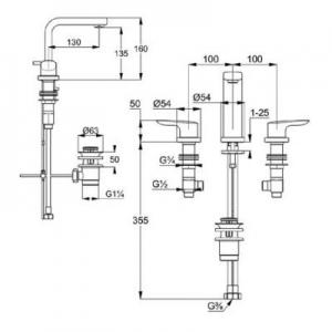 Rysunek techniczny Kludi Pure&Solid 343940575-image_Kludi_343940575_2