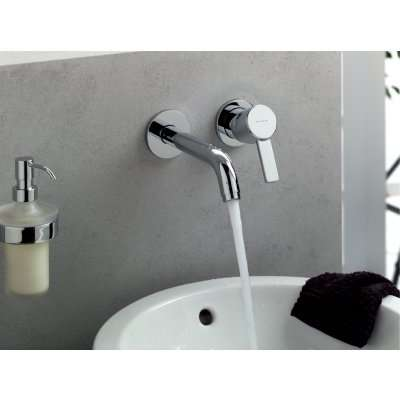 Widok podtynkowej baterii umywalkowej Kludi Zenta po zmontowaniu.-image_Kludi_382450575_6