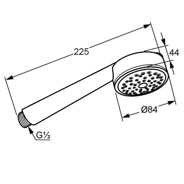 wymiary techniczne słuchawki zenta 1s 6060005-00-image_Kludi_6060005-00_3