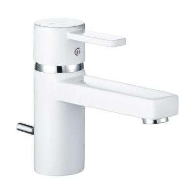 Armatura łazienkowa KLudi Zenta White 382509175 - biała bateria umywalkowa z korkiem automatycznym.-image_Kludi_382509175_3