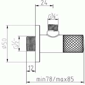 Wymiary techniczne zaworu kątowego Kludi 158460500-image_Kludi_1584605-00_4
