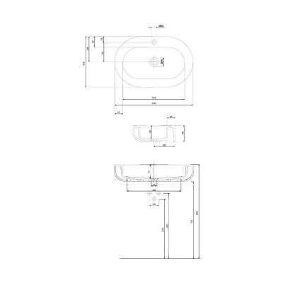 Dane techniczne umywalki Cocktail 65cm -image_Koło_L31665000_4