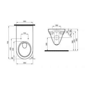 Rysunek techniczny miski Nova Pro Bez Barier Rimless-image_Koło_M33520000_2