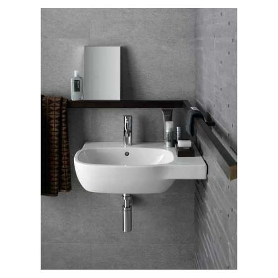 Aranżacja asymetrycznej umywalki Koło Style z powłoką Reflex 1-image_Koło_L22145900_3