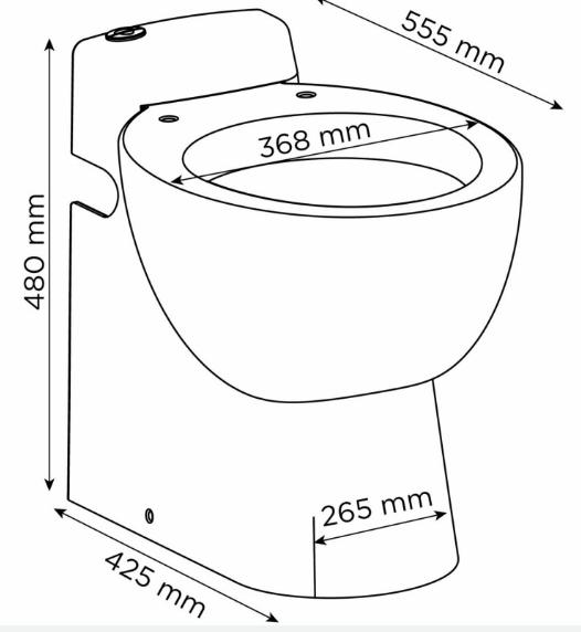 Wymiary techniczne pompy rozdrabniającej SFA Sanicompact Pro-image_SFA_SFA SANICOMPACT PRO_3