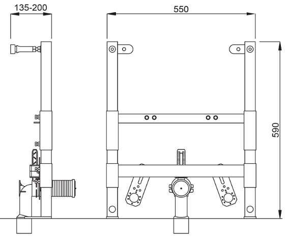 Wymiary techniczne stelażą bidetowego Schwab 8050452769 -image_Schwab_8050452769_2