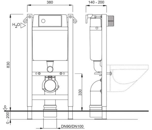 Wymiary techniczne stelaża podtynkowego do wc marki Schwab Duplo 387 4060453003-image_Schwab_4060453003_2