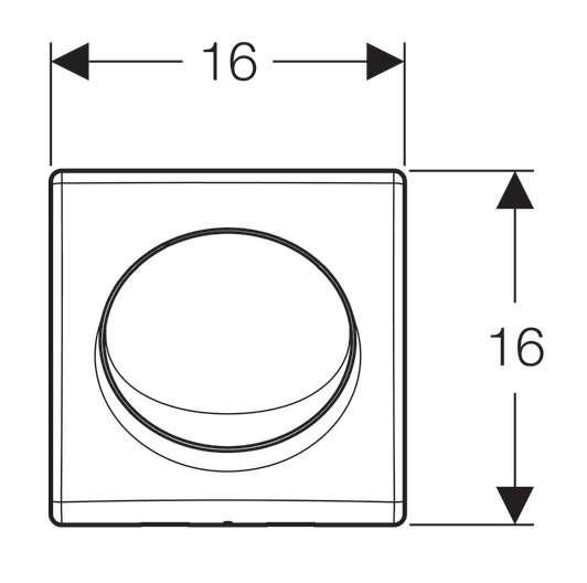 Wymiary techniczne przycisku do pisuaru Samba -image_Geberit_115.820.46.5_3