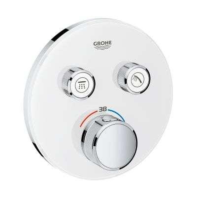 Podtynkowa bateria termostatyczna w wersji białej Grohe Samrtcontrol 29151LS0.-image_Grohe_29151LS0_3