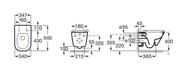 Roca Gap miska bezkołnierzowa wymiary techniczne -image_Geberit + Roca_UP320/GAPRIMLESS/S30KJ_3