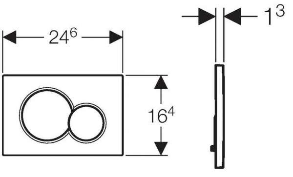 Wymiary techniczne przycisku spłukującego Geberit Sigma 01 115.770.DW.5 do spłuczek podtynkowych Geberita.-image_Geberit_115.770.DW.5_4