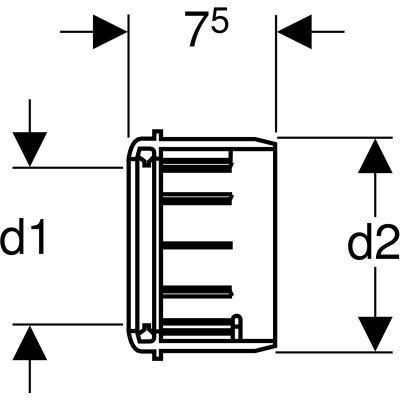 Wymiary techniczne redukcji do rury odpływowej Geberita w UP320-image_Geberit_367.928.16.1_2
