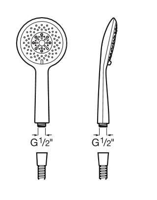 Wymiary techniczne słuchawki Roca Sensum Round -image_Roca_A5B1107C00_2