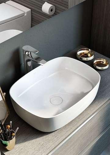Aranżacja ceramiki łazienkowej Roca Inspira Soft umywalka 50cm-image_Roca_A327500000_3
