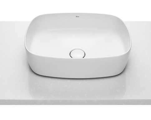 Rysunek przedstawiający umywalkę nablatową w rozmiarze 50cm z serii Inspira Soft-image_Roca_A327500000_5