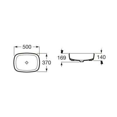 Dane techniczne umywalki Roca Inspira Soft a32750000-image_Roca_A327500000_4