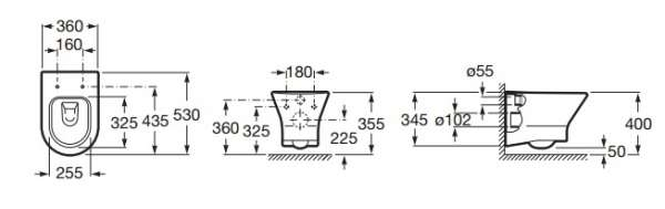 Dane techniczne miski toaletowej Roca Nexo 34664L000-image_Roca_A34664L000_3