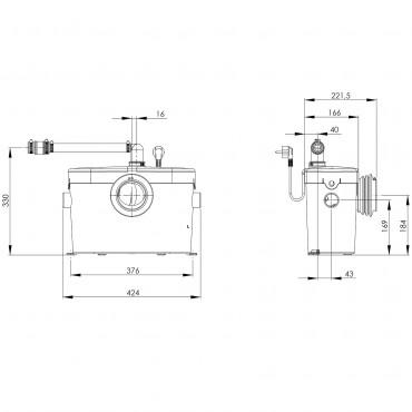 Wymiary techniczne urządzenia Saniaccess 1-image_SFA_SFA SANIACCESS 1_2