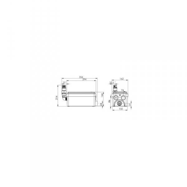 Wymiary techniczne pompy SFA Sanidouche -image_SFA_SFA SANIDOUCHE_3