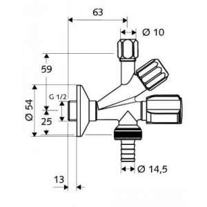 Wymiary techniczne zaworu kombinowanego Schell-image_Importer__2