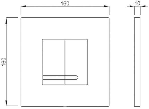 Wymiary techniczne przycisku Schwab Arte Duo 4060415601 -image_Grohe_ 27139000_1