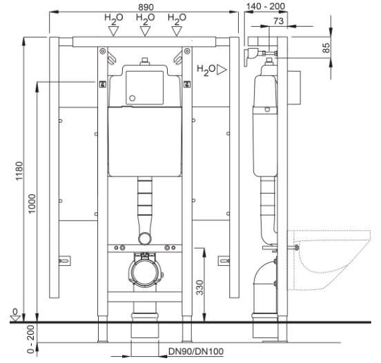 Wymiary techniczne stelaża podtynkowego Schwab -image_Schwab_4060452737_2