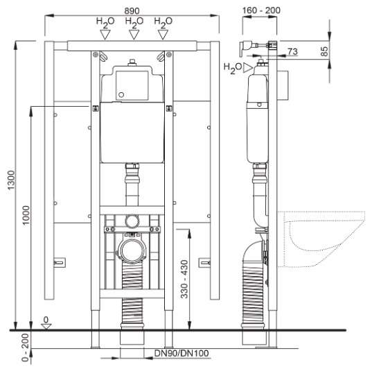 Wymiary techniczne stelażą Schwab Duplo 4060452738-image_Koło_65100-000_1
