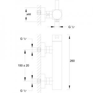 Wymiary techniczne baterii prysznicowej Steinberg 120 1201200-image_Steinberg_1201200_2