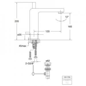 Dane techniczne baterii umywalkwej Steinberg 120 1201755-image_Steinberg_1201755_2