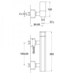 Dane techniczne baterii prysznicowej Steinberg 230 2351200-image_Steinberg_2351200_2