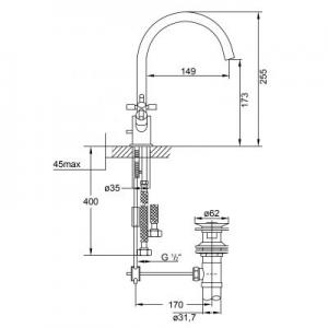 Dane techniczne baterii umywalkowej Steinberg 250 2501500-image_Steinberg_2501500_2