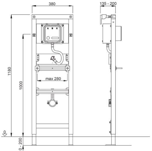 Wymiary techniczne stelaża Schwab do pisuaru 8050452757-image_Schwab_8050452757_2