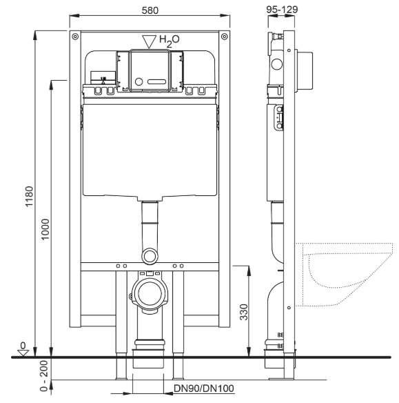 Dane techniczne stelaża podtynkowego wc Schwab Duplo 399 -image_Schwab_4060452515_2