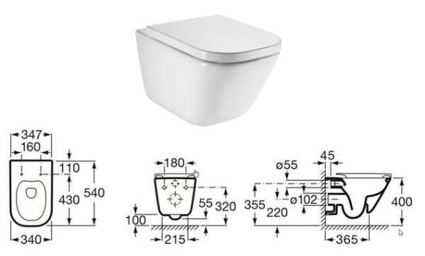 Wymiary techniczne miski toaletowej Roca Gap 34647L00 -image_Schwab + Roca_SCHWAB/ATENADUOB/GAPRIM_2