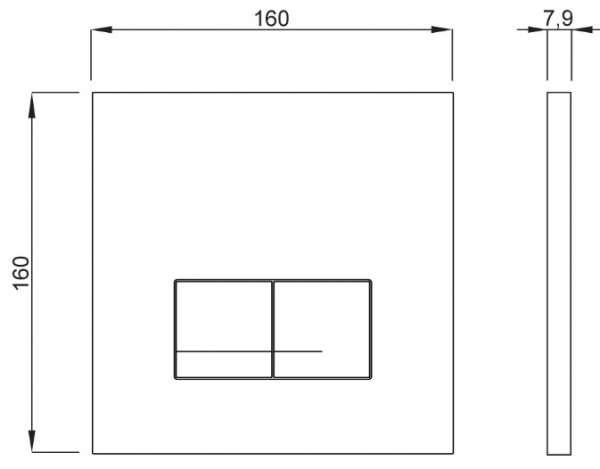 Wymiary techniczne przycisku do wc Schwab Arte Duo Glass White 4060420201-image_Roca_A801512004_1