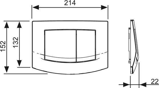 Rysunek techniczny przycisku Tece Ambia-image_Tece_9.240.200_4
