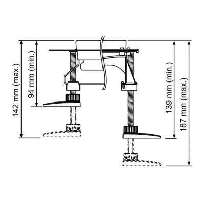Wymiary techniczne stopek 660003-image_Tece_660003_3