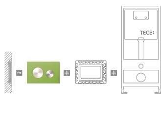 Zlicowanie ze ścianą przycisku szklanego TeceLoop-image_Tece_9.240.650_4