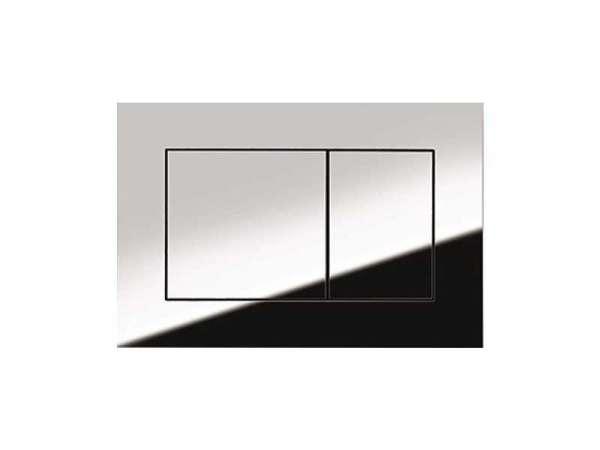 Klawisz spłukujący Tece Now o kubistycznych kształtach w wersji chrom połysk dedykowany do spłuczek podtynkowych Tece.-image_Tece_9.240.401_5