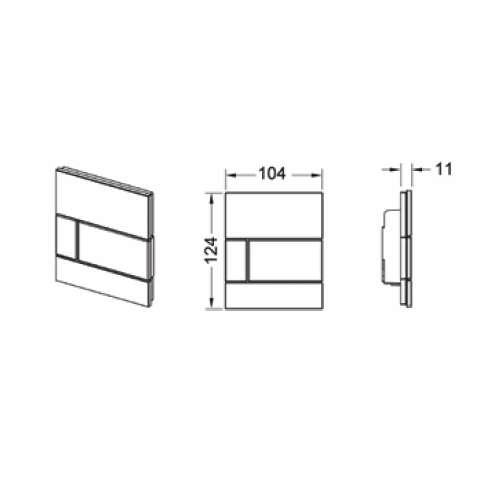 rysunek techniczny przycisku pisuarowego Square 9.242.800-image_Tece_9.242.800_3