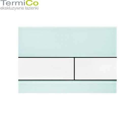 Przycisk do wc tece square szkło zielone z białymi przyciskami-image_Tece_9.240.803_4