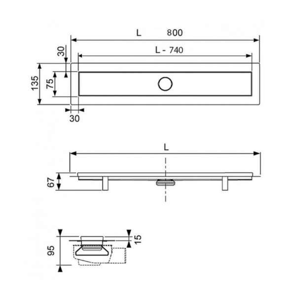 Wymiary techniczne odwodnienia Linus-image_Tece_15103080_3