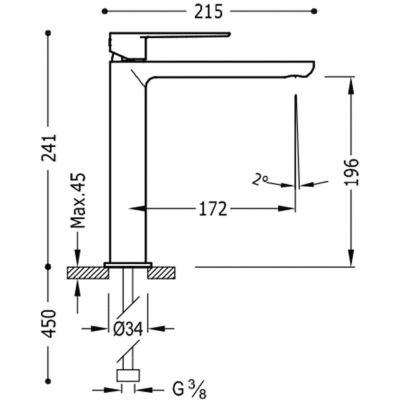 Wymiary baterii Tres Loft -image_Tres_200203NMD_3
