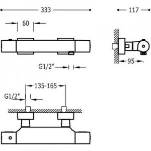Dane techniczne baterii prysznicowej Tres Project 211.164.09.NM-image_Tres_21116409NM_2